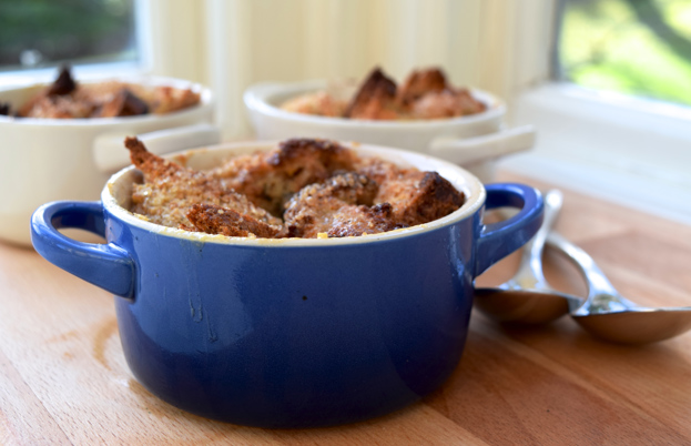 Dark chocolate and marmalade bread and butter pudding