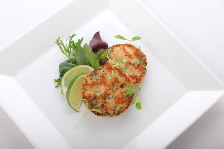 Thai fish cakes with sweet chilli dip