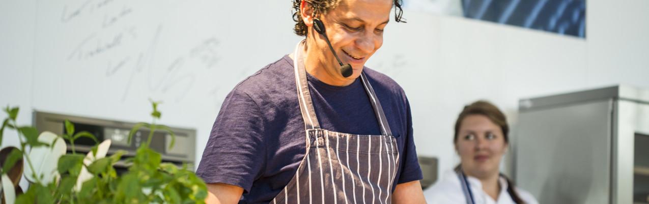 Francesco Mazzei on the AEG Theatre at Taste of London