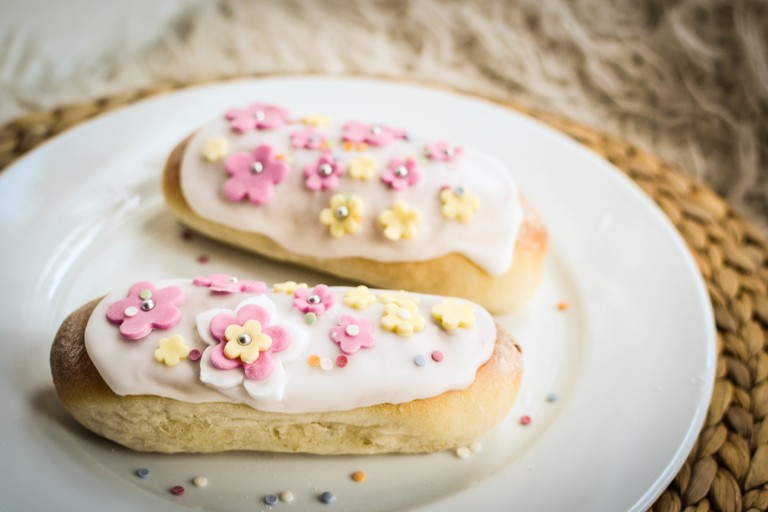 Iced Buns for Mother's Day